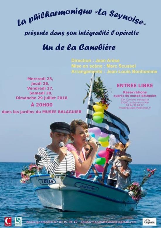 Philharmonique La Seynoise: Un de la Canebière, du 25 au 29 Juillet 2018