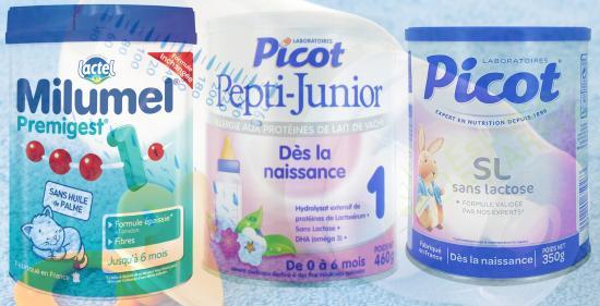 Attention ! Des Lots de Laits infantiles 1er Age retirés après la Contamination de vingt Bébés par des Salmonelles
