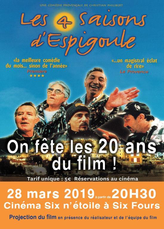 Ciné: Les 4 Saisons d'Espigoule - les 20 Ans du Film, le 28/03/2019