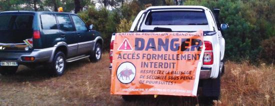 Massif du Cap Sicié: Tirs de Régulation du Sanglier, Mardi 02 Octobre 2018