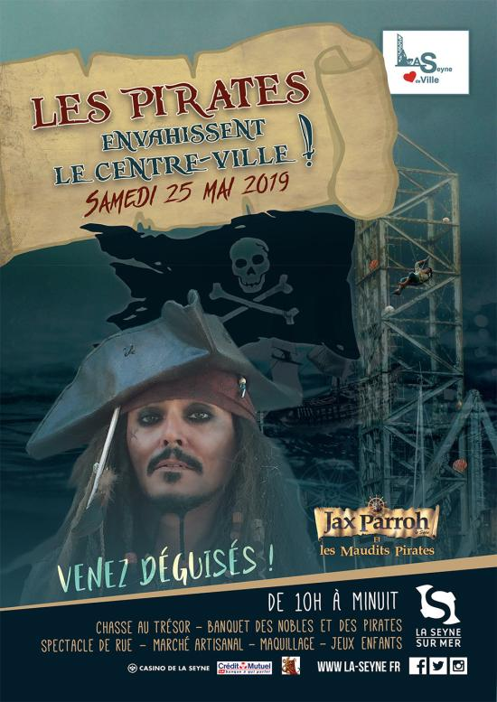 Attention ! Les Pirates envahissent le Centre-Ville de La Seyne, le 25 Mai 2019