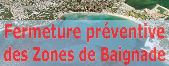 La Seyne sur Mer: Fermeture préventive des Zones de Baignade 10/08/2018