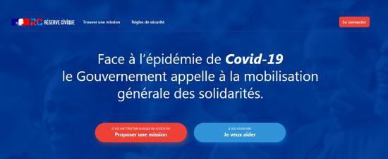 #Coronavirus #Covid19: Lancement de la Plateforme #JeVeuxAider.gouv.fr de la Réserve civique