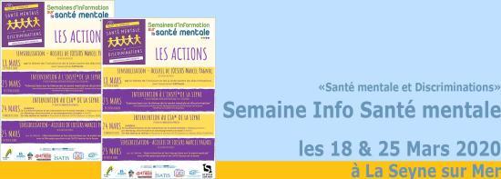 «Santé mentale et Discriminations» Semaine Info Santé mentale du 18 au 25/03/2020