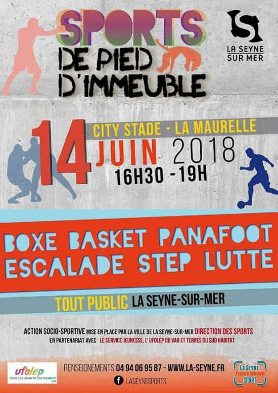 SPORT de Pied d'Immeuble, le 14/06/2018 à La Maurelle