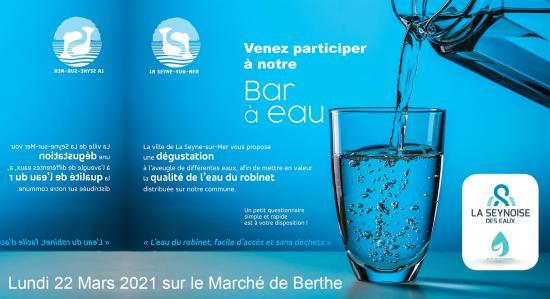 Journée mondiale de l'Eau: Un Bar à Eaux sur le Marché de Berthe, le 22 Mars 2021