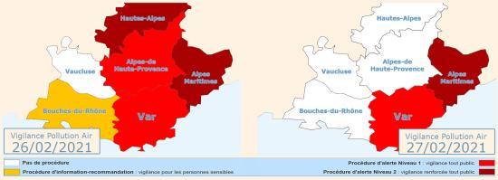 Vigilance Pollution Air: Alerte Niveau 1 pour le 26 et 27 Février 2021 à La Seyne