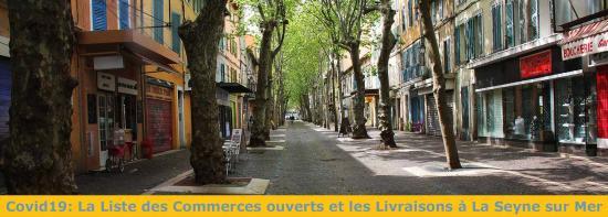 Reconfinement: La Liste des Commerces ouverts et les Livraisons à La Seyne sur Mer