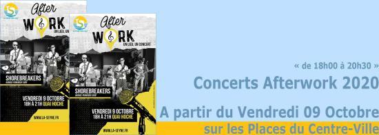Concerts Afterwork 2020: A partir du Vendredi 09 Octobre sur les Places du Centre-Ville