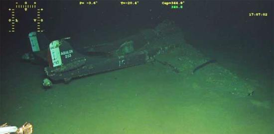Découverte de l'Épave d'un Avion de l'aéronautique navale en Mer Méditerranée au Sud de Porquerolles