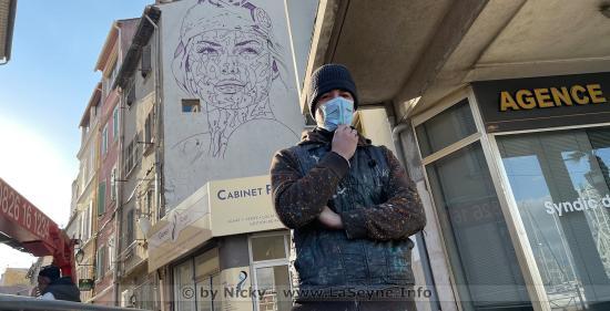 Majid Cheikh: Lancement d'une Fresque représentant Marianne, Mardi 19 Janvier 2021