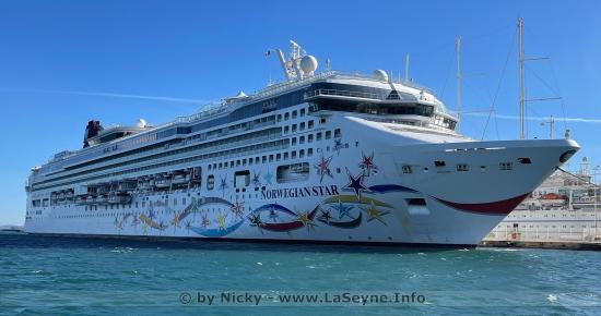 Le Norwegian Star amarré à La Seyne sur Mer