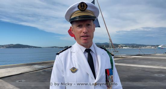 Le Capitaine de Vaisseau Sébastien Martinot, nouveau Commandant du Porte-Avions Charles De Gaulle depuis ce 08/07/2021