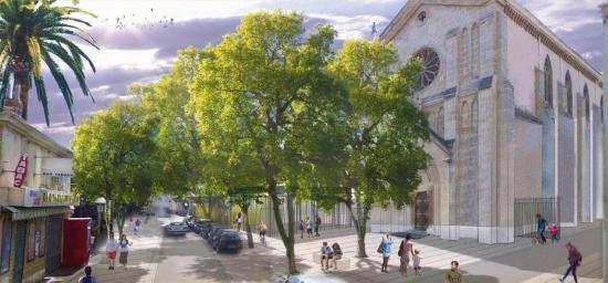 Les Travaux d'Aménagement de la Place Loro, aux Maristes, à La Seyne
