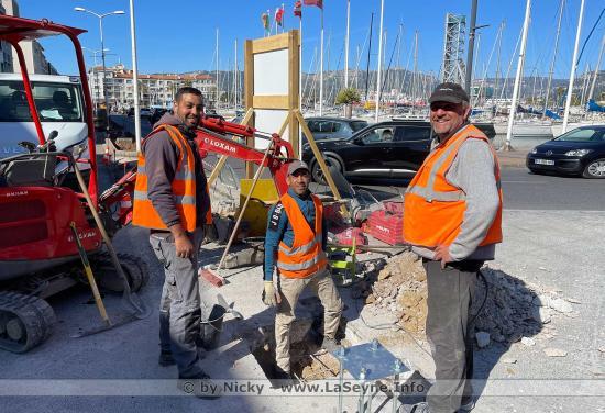 Men at work sur le Port de La Seyne