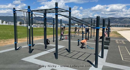 Inauguration de l'Aire sportive urbaine de Street Workout, le 04 Juin 2021 au Parc de la Navale