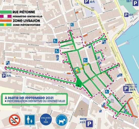 Piétonnisation du Centre-Ville de La Seyne à partir de Septembre 2021