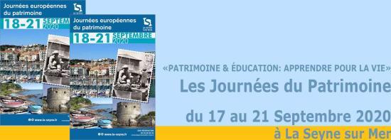 Les Journées du Patrimoine 2020, du 17 au 21 Septembre à La Seyne sur Mer