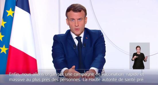 Les Annonces d'Emmanuel Macron du 24/11/2020 en Time Lapse