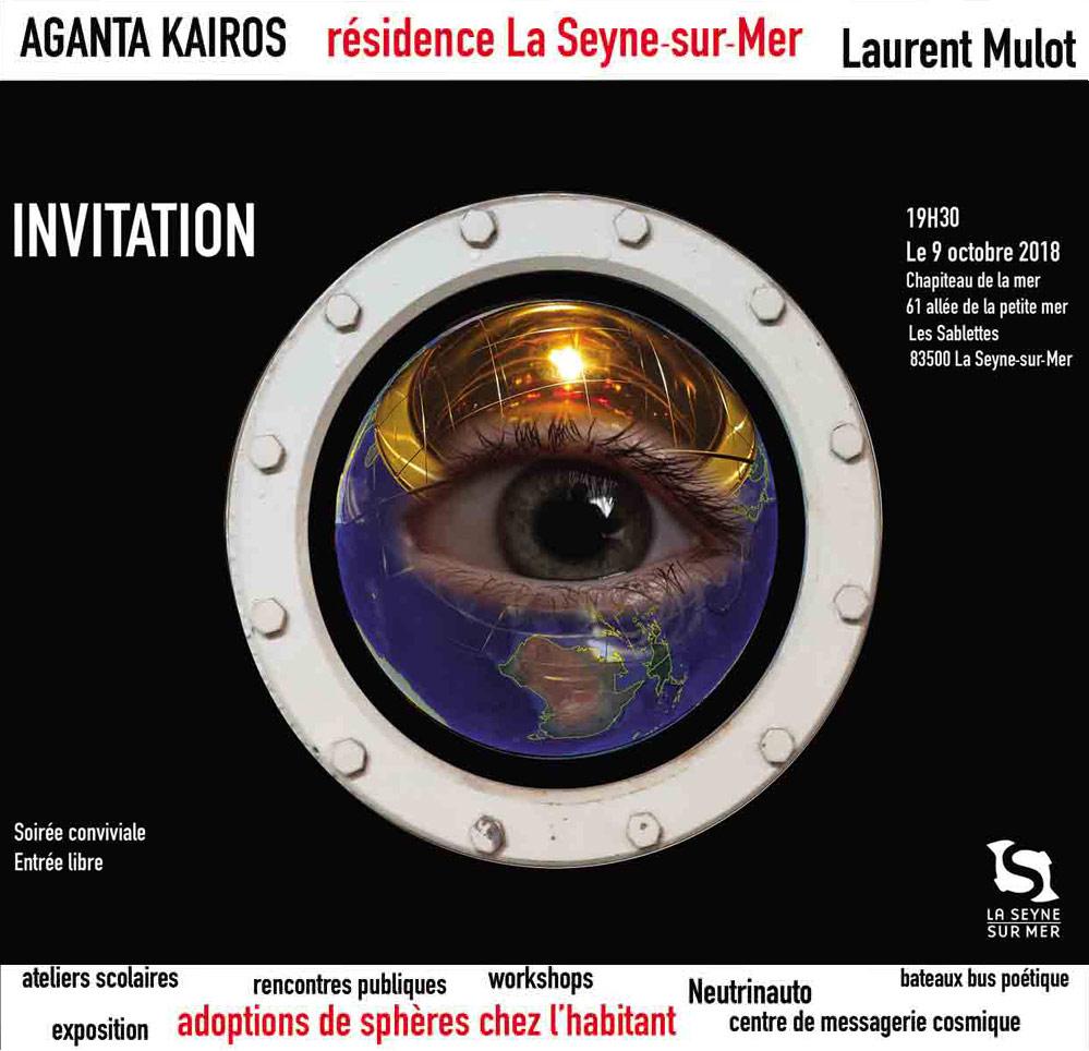 Résidence artistique Aganta Kairos, Suite: le 09 Octobre 2018 au Chapiteau de la Mer aux Sablettes