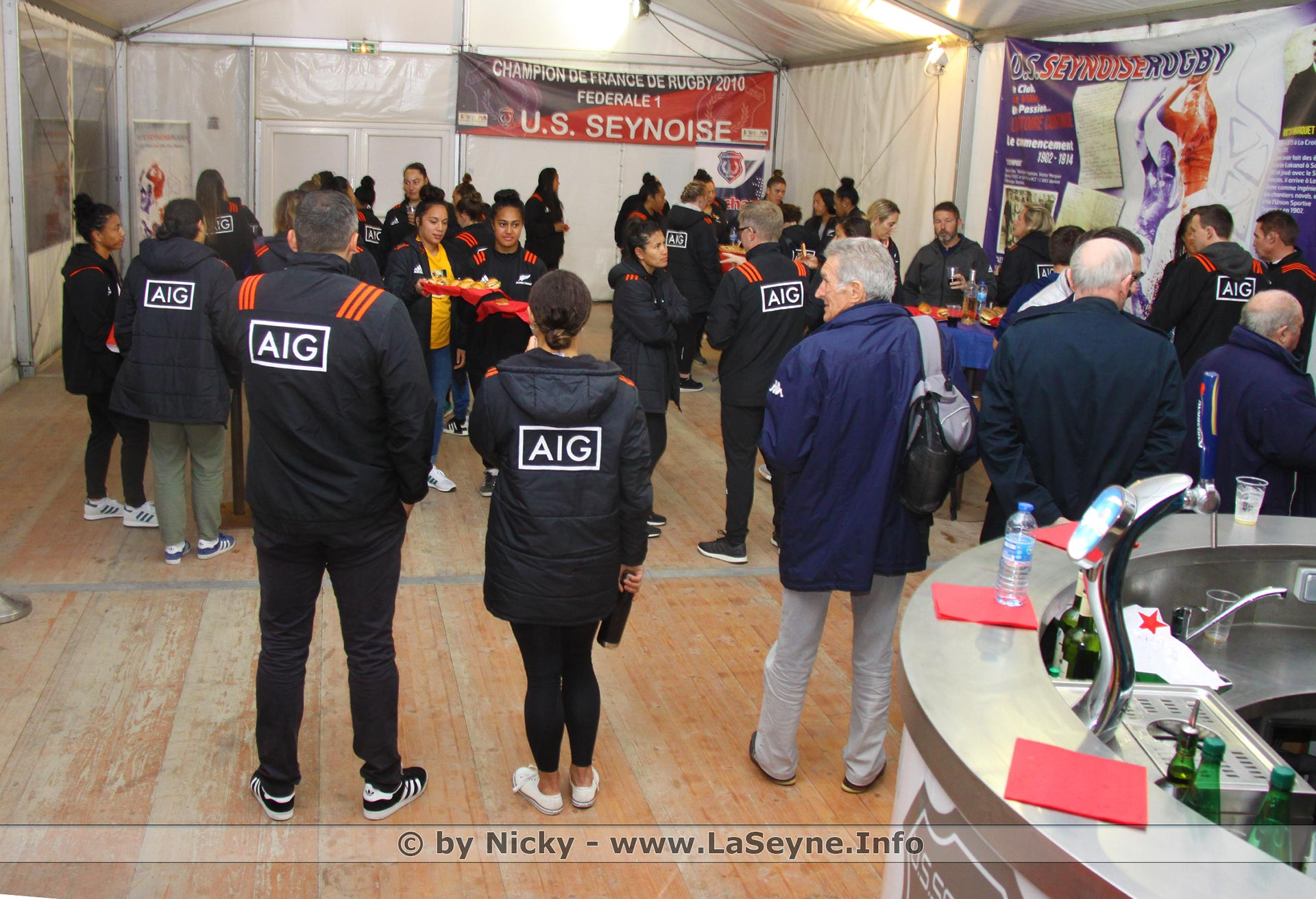 Les Black Ferns (Rugbywomen des All Blacks) à La Seyne à l'Occasion de la Tournée internationale d'Automne de Rugby -