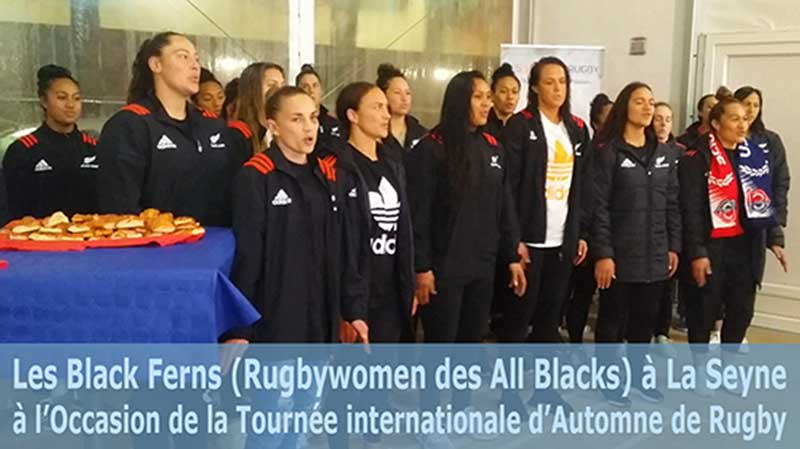 Les Black Ferns (Rugbywomen des All Blacks) à La Seyne à l'Occasion de la Tournée internationale d'Automne de Rugby