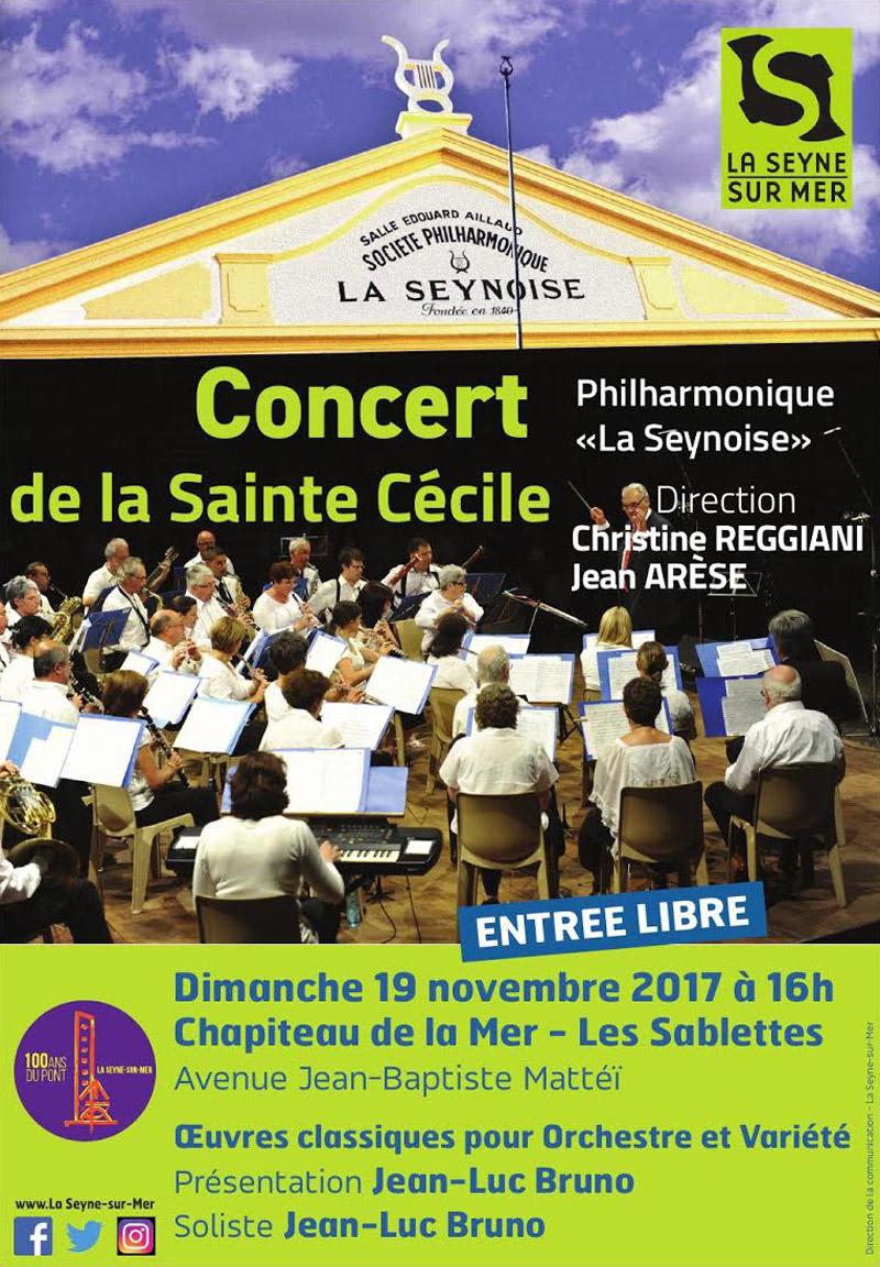 Le Concert de Sainte Cécile 2017 le 19 Novembre
