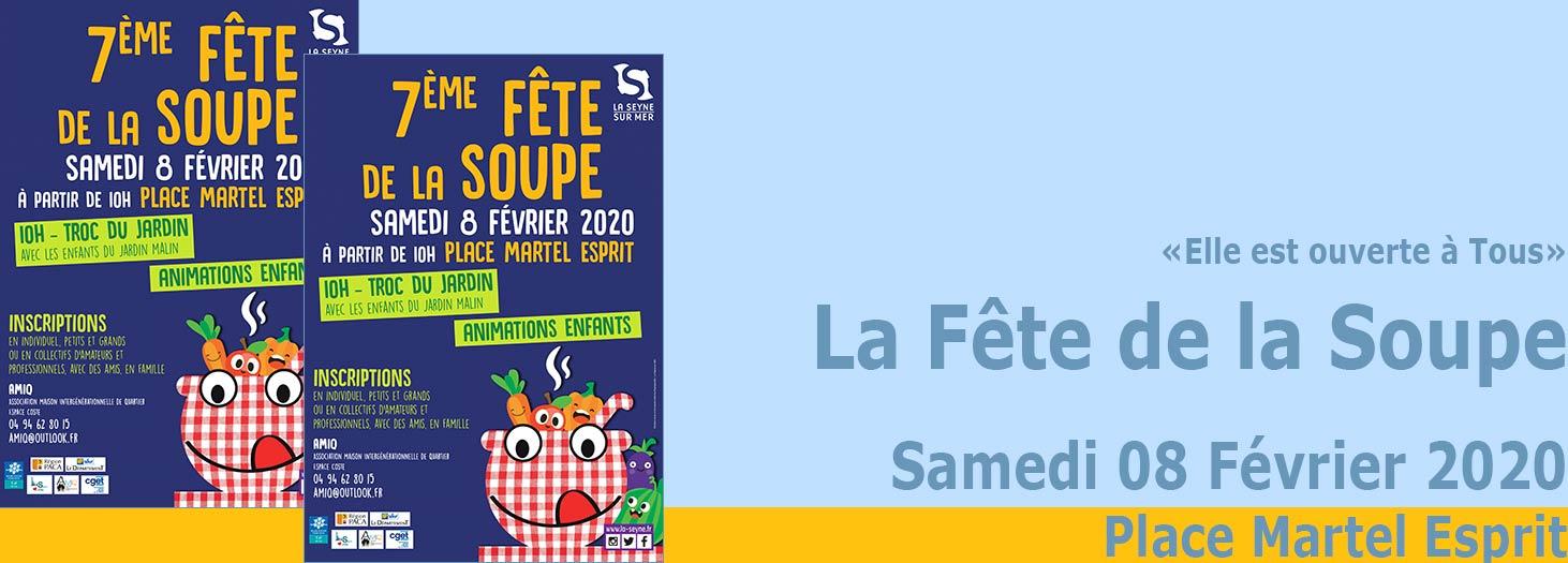 La Fête de la Soupe 2020, le 08 Février au Centre-Ville