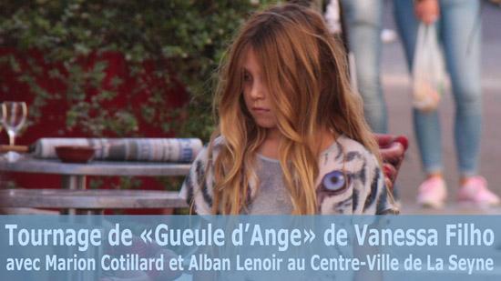 Tournage de «Gueule d'Ange» de Vanessa Filho avec Marion Cotillard et Alban Lenoir au Centre-Ville de La Seyne sur Mer