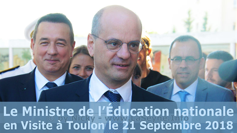 Jean-Michel Blanquer, le Ministre de l'Éducation nationale, le 21/09/2018 à Toulon