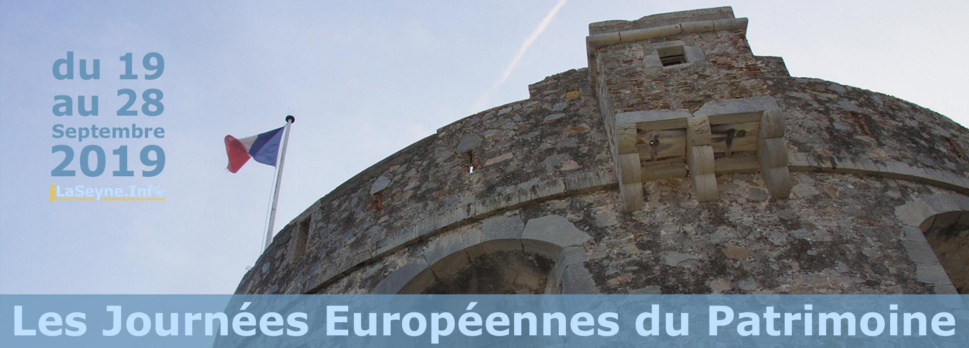 Les Journées Européennes du Patrimoine 2019, du 19 au 28 Septembre