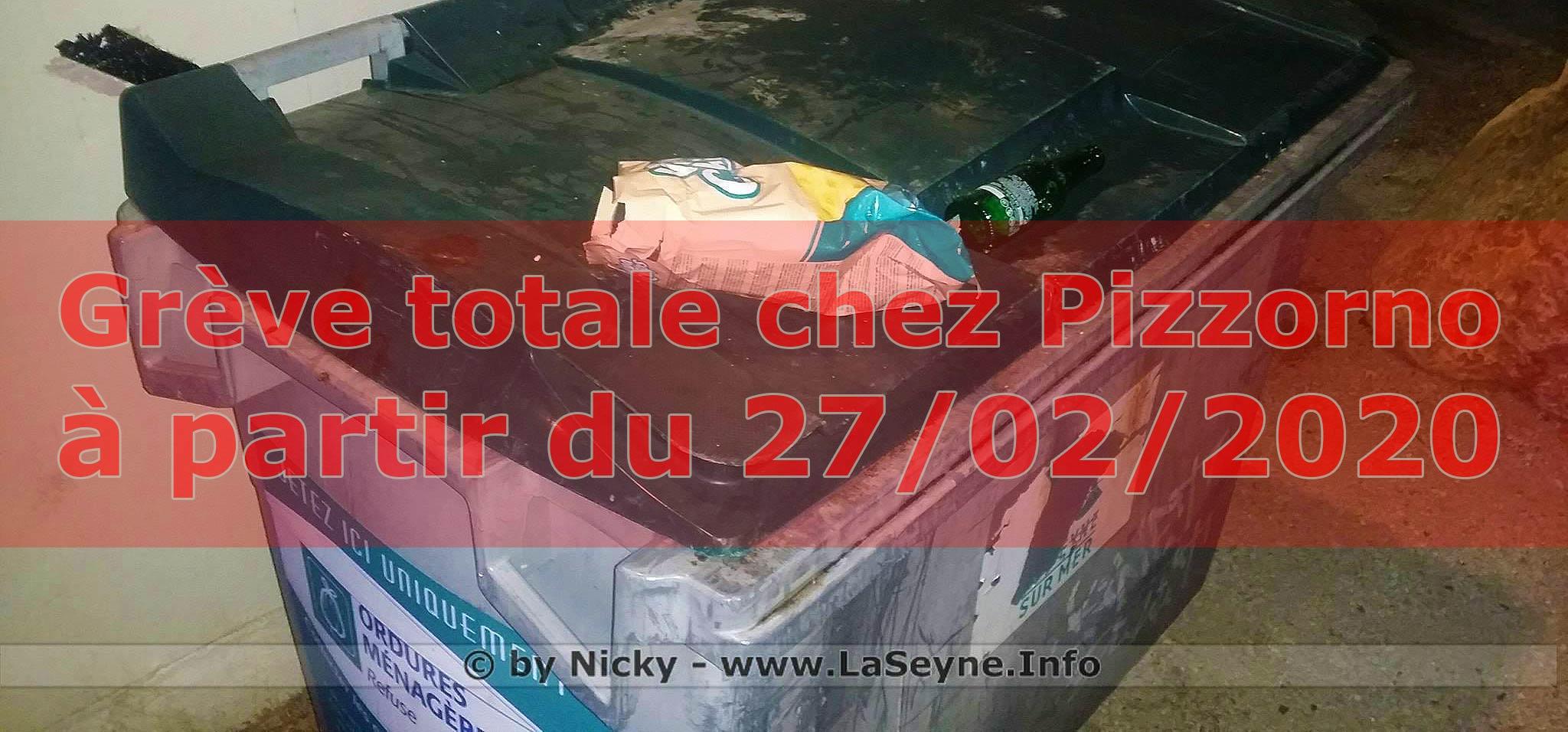 Grève totale chez Pizzorno, à partir du 27/02/2020
