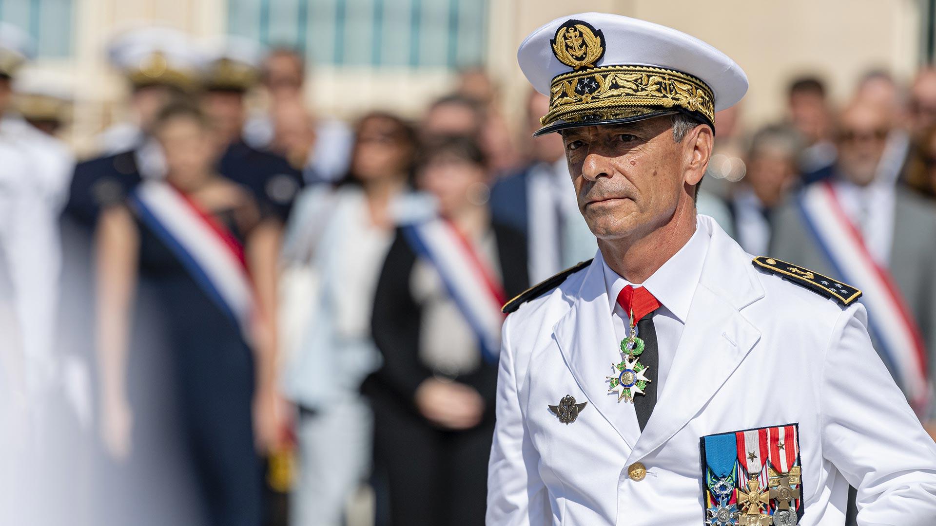 Toulon: L'Amiral Laurent Isnard, nouveau Préfet maritime de la Méditerranée. Photo: ©Sébastien Chenal - Marine nationale