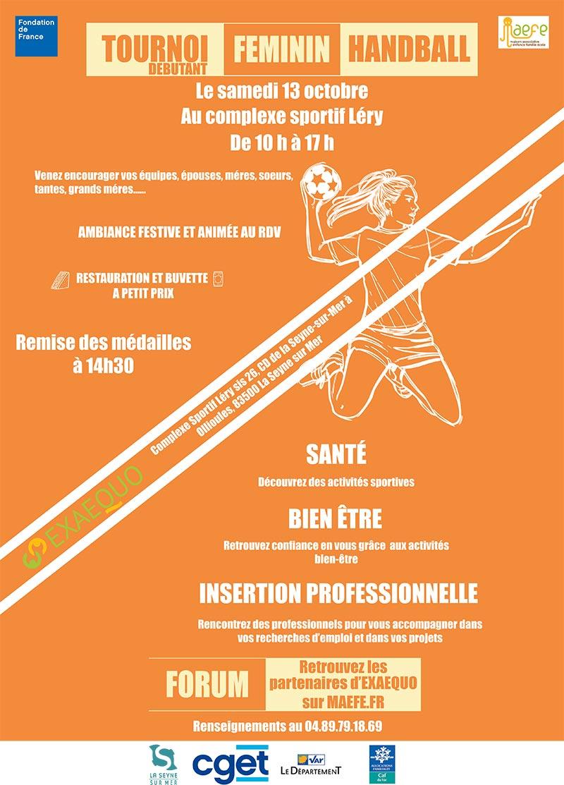 Tournoi de Handball féminin, Samedi 13/10/2018 à Léry