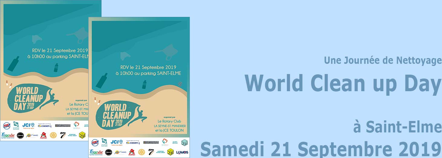 La Seyne sur Mer: World Clean up Day 2019: Une Journée de Nettoyage de Saint-Elme, le 21 Septembre -