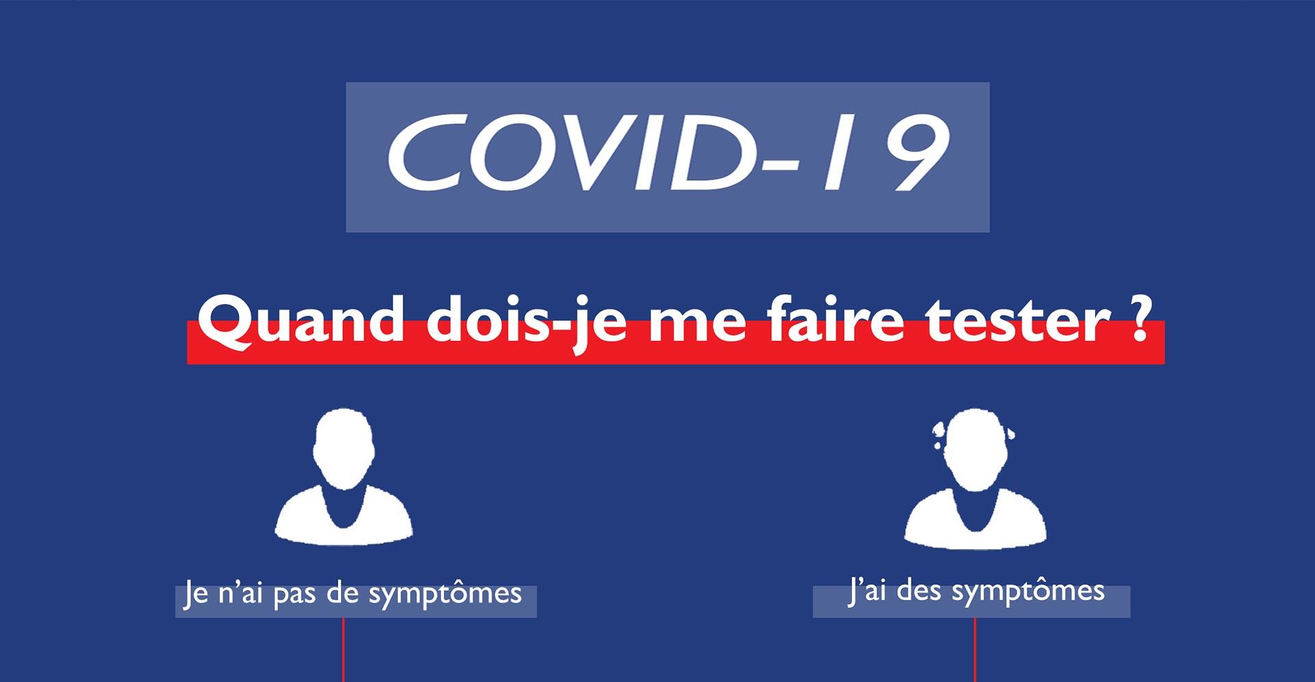 #Coronavirus #Covid19: Quand devons-nous nous faire tester ?