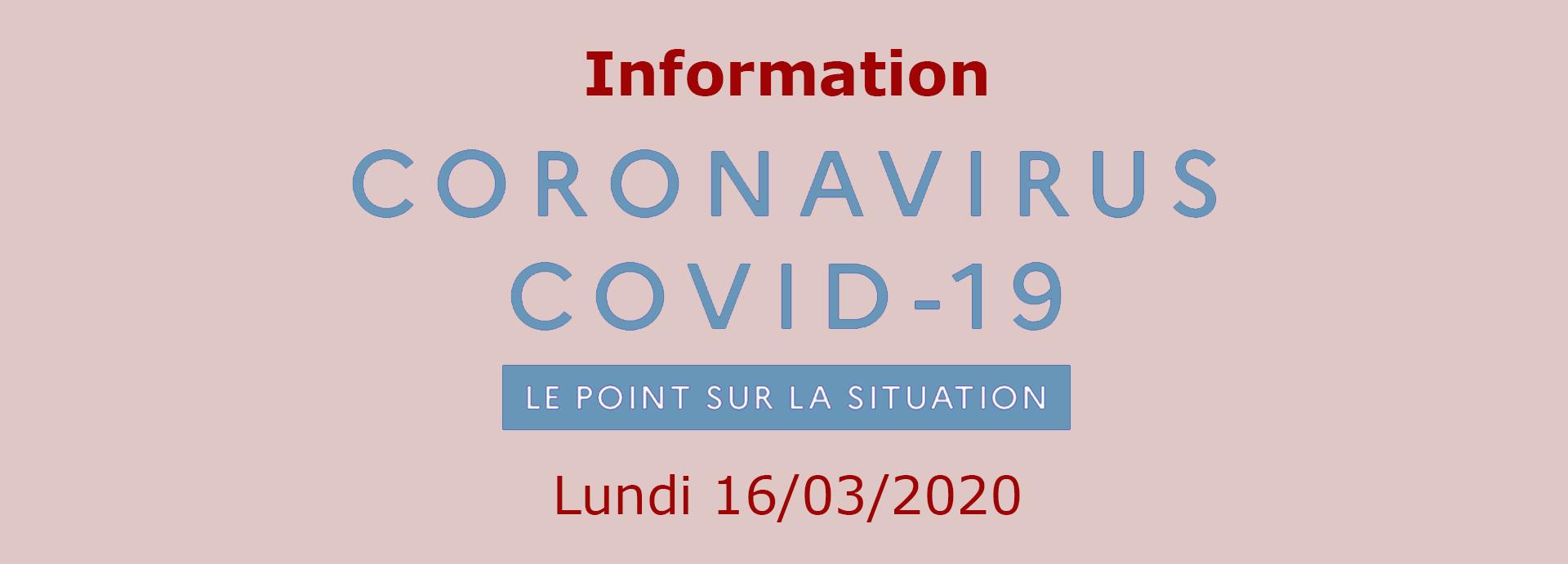 Coronavirus: Passage au Stade 3 du Plan d'Action gouvernemental
