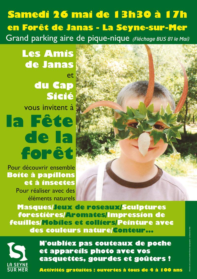 La Seyne : La Fête de la Forêt 2018, le 26 Mai à Janas