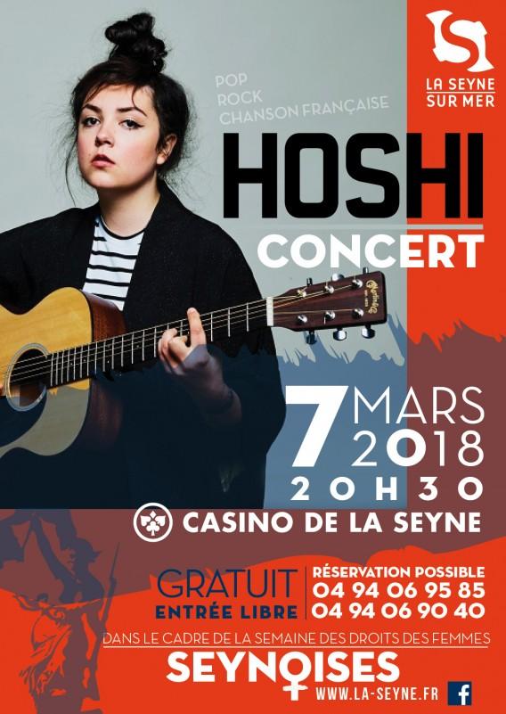 Concert: HOSHI live sur Seyne-Mercredi 7 Mars 2018