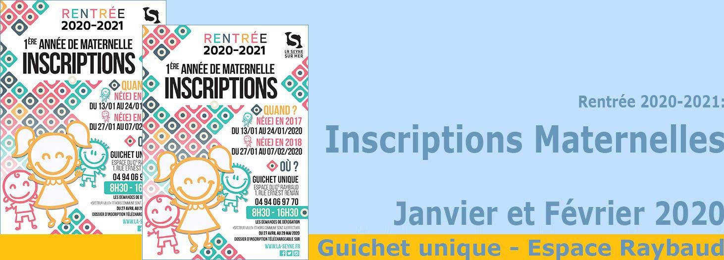Rentrée 2020-2021: Inscriptions des Maternelles