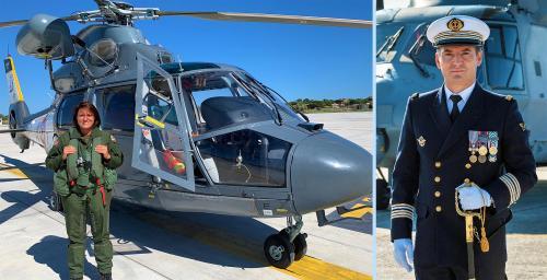 CC FERAUD et CF Davadant: Deux nouveaux Commandants pour la Flottille 35F et le CENTEX Hélicoptères à Hyères -