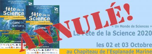 La Fête de la Science 2020, les 02 et 03 Octobre à La Seyne -