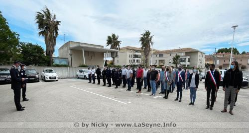 Hommage à Eric Masson, Policier tué à Avignon: Une Minute de Silence a été respectée au Commissariat de La Seyne -