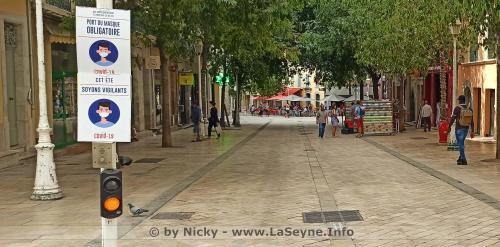 #COVID19: Le Port du Masque obligatoire sur l'Ensemble de la Ville de Toulon -