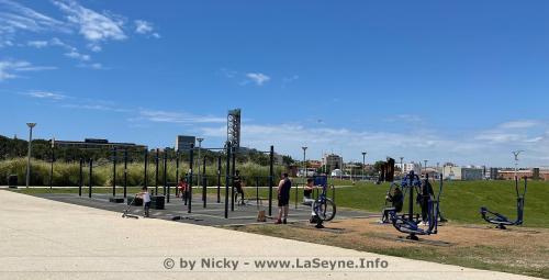 Inauguration de l'Aire sportive urbainede Street Workout, le04 Juin 2021 au Parc de la Navale -