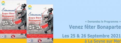 Venez fêter Bonaparte, les 25 & 26 Septembre 2021 à La Seyne -