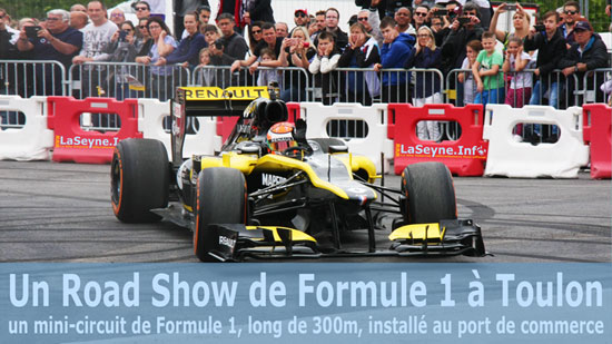 Un Road Show Formule 1 sur le Port de Commerce à Toulon -