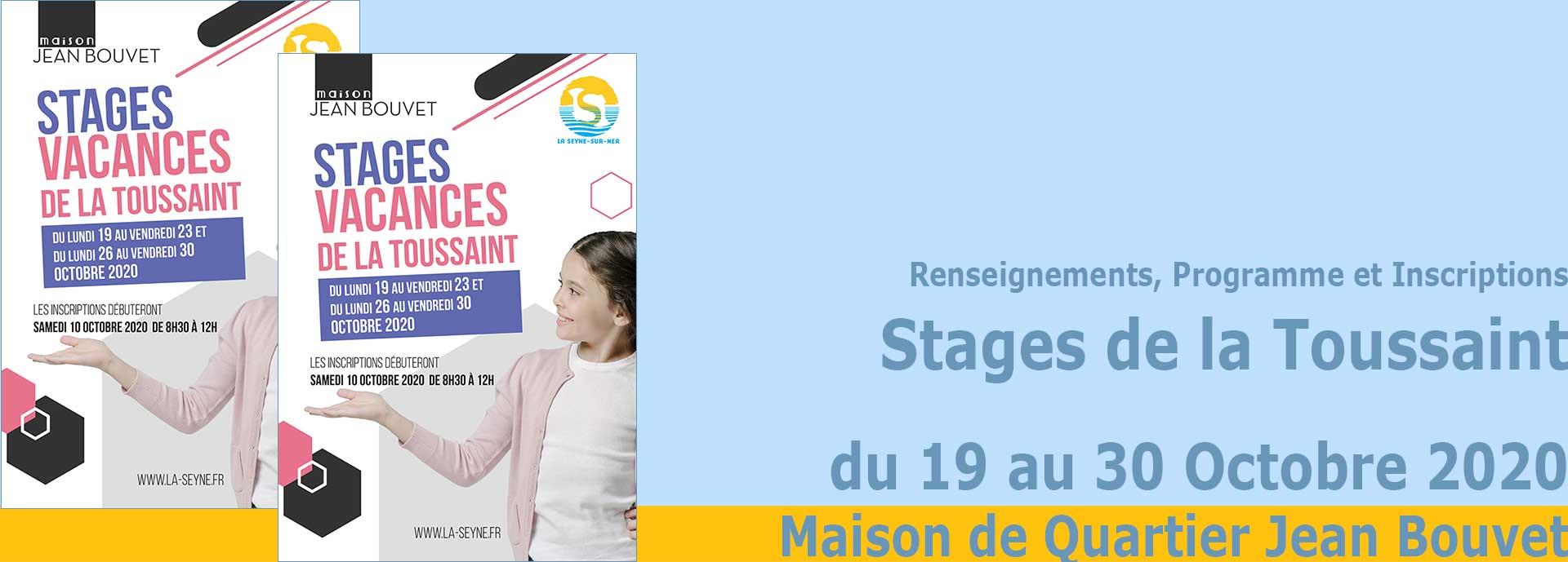 Les Stages de la Toussaint 2020 à la Maison de Quartier Jean Bouvet